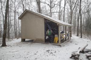 Blue Mountain Shelter im Schnee